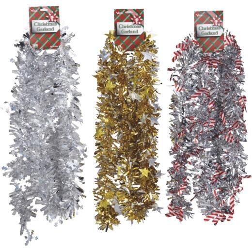 F C Young 8 Ft. Die-Cut Jumbo Colored Garland Assortment