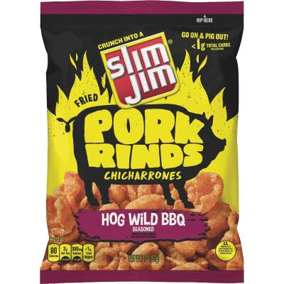 Slim Jim 2 Oz. Hogwild BBQ Pork Rinds