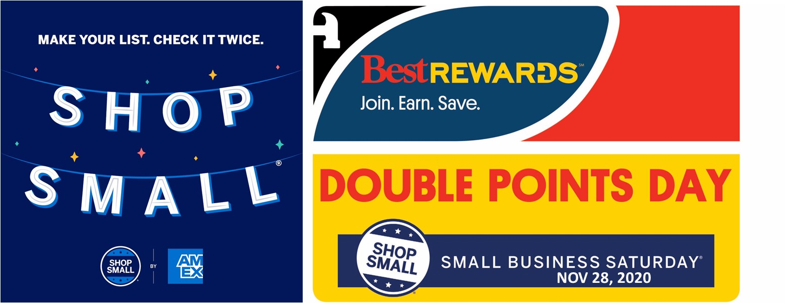 Double Rewards Points on Small Business Saturday
